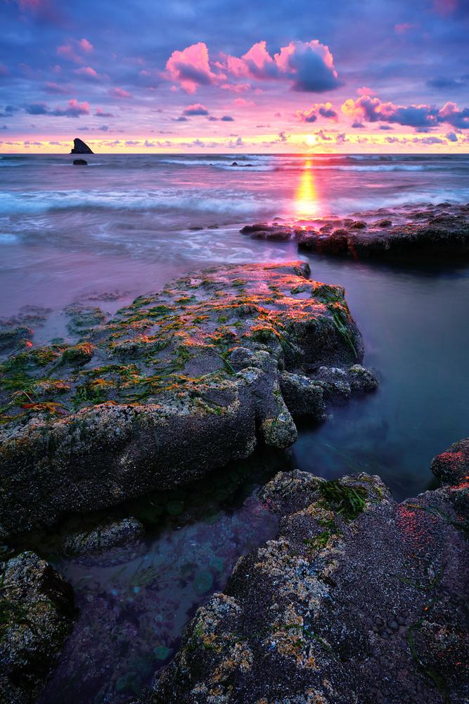 Tide Pool Sunset by Jesse Merz