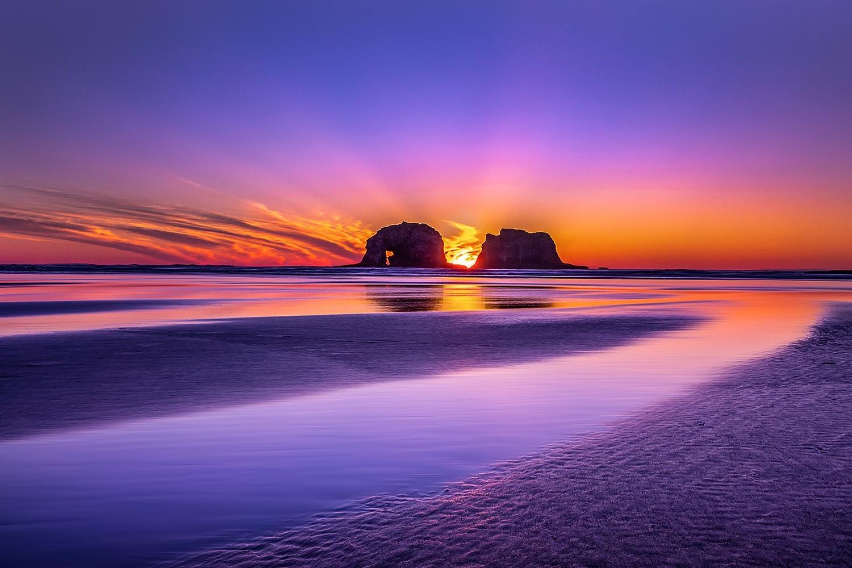 Rockaway Sunset by Heidi Kreske