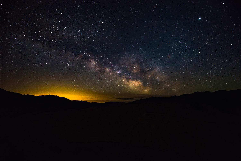Milky way over Zabriskie Point by Karl Biggs