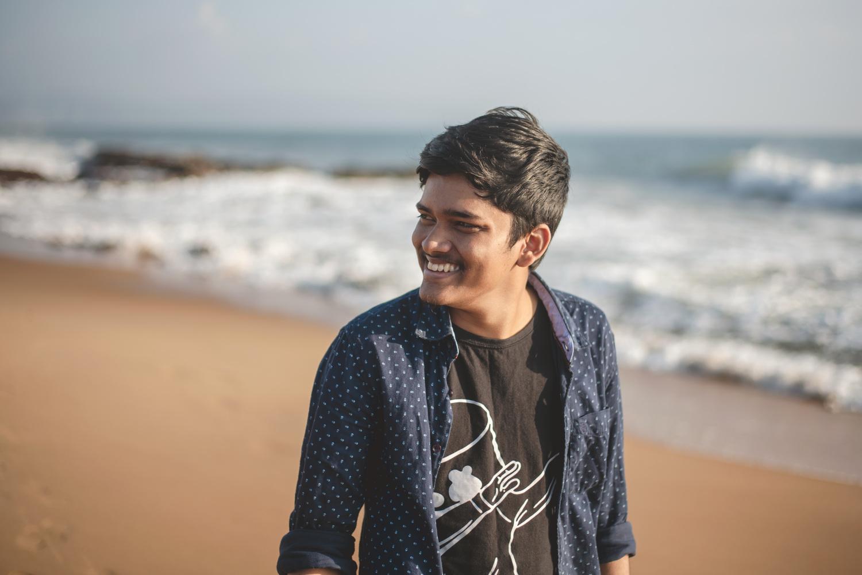 Portrait at the beach by Krishna Deep Bhamidipati