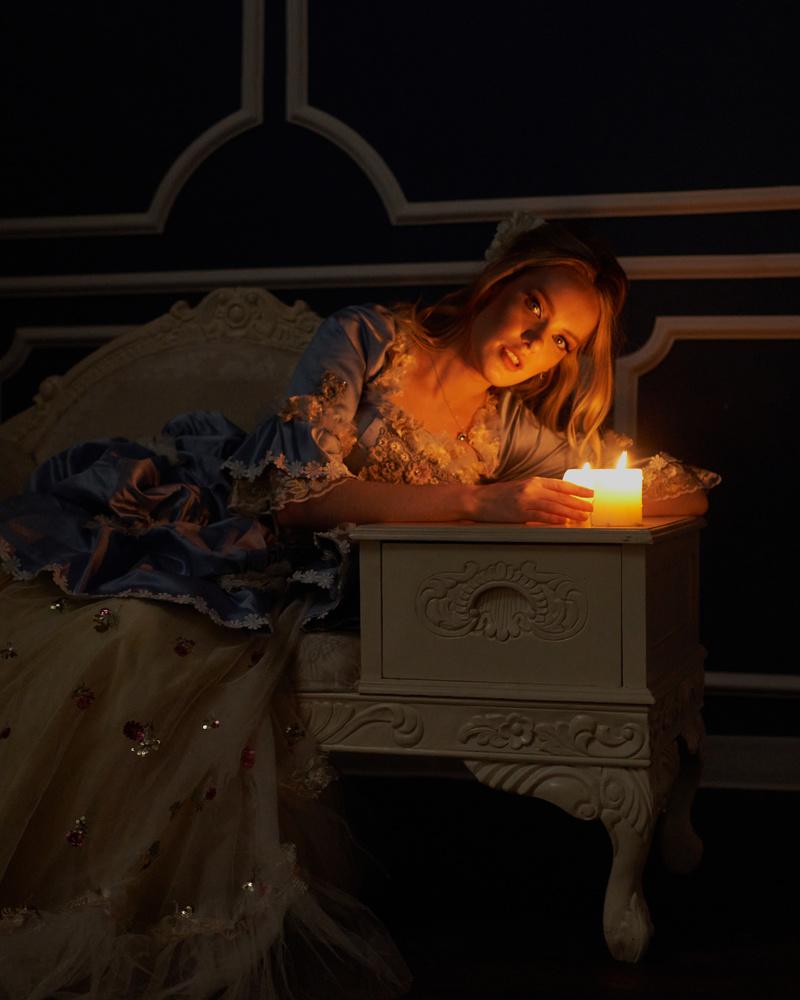 Ksenia candlelight by Jeff Bennion