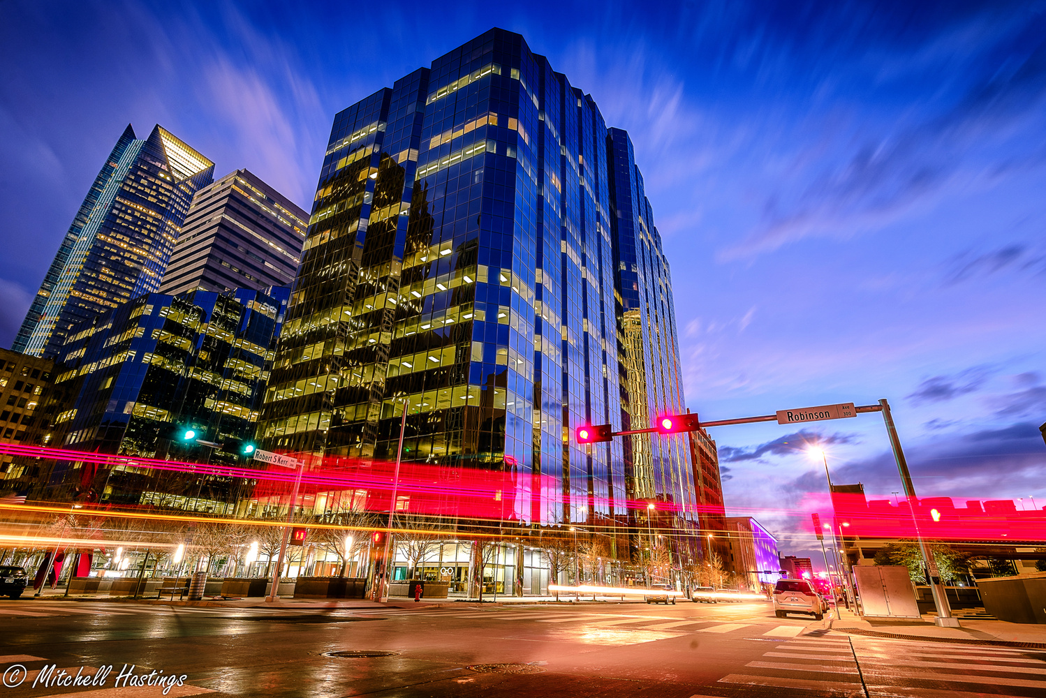 Downtown blue-hour by Mitchell Hastings