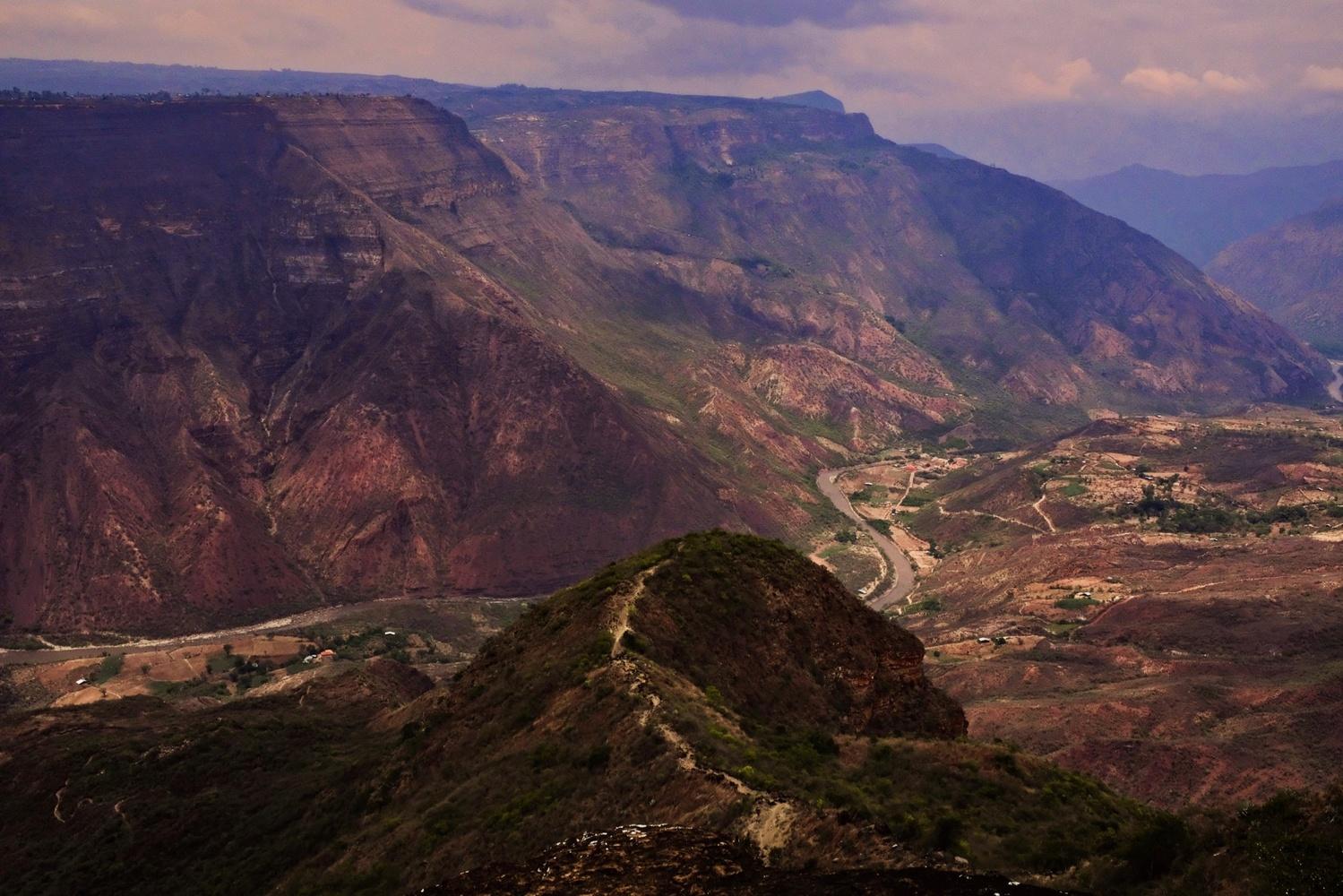 Chicamocha Canyon, Colombia SA by Ken Savage