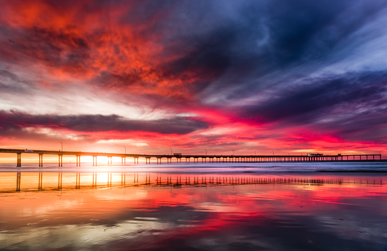 Fire Reflection SD Sunset by Shane Garner