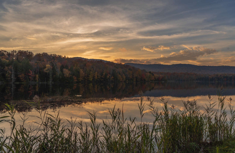 Kent Pond sunset by John Nicholson