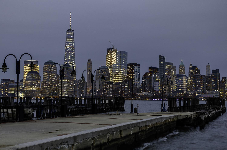 NYC at night by John Nicholson
