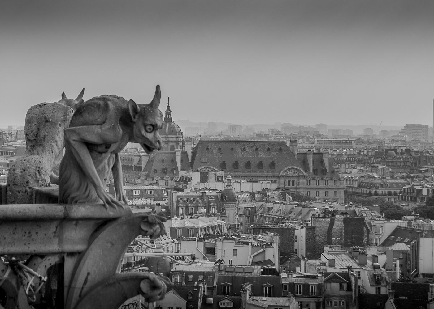 Paris City scene by John Nicholson