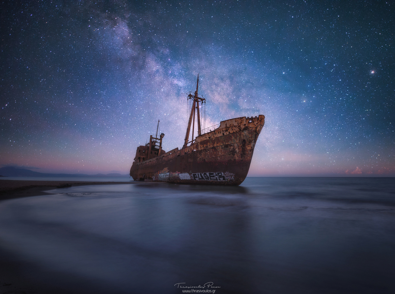 Shipwreck Under the Stars by Thrasivoulos Panou