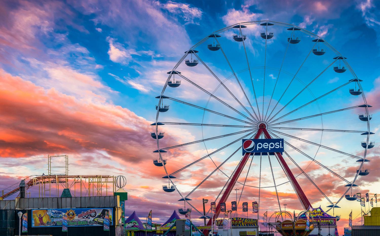 Ferris Wheel at sunset by Jon Lloyd Jr