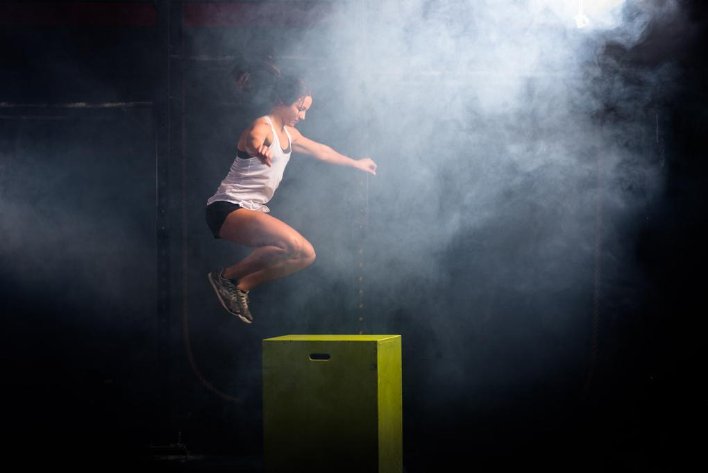 Boxjump in the fog by Alex Freeman