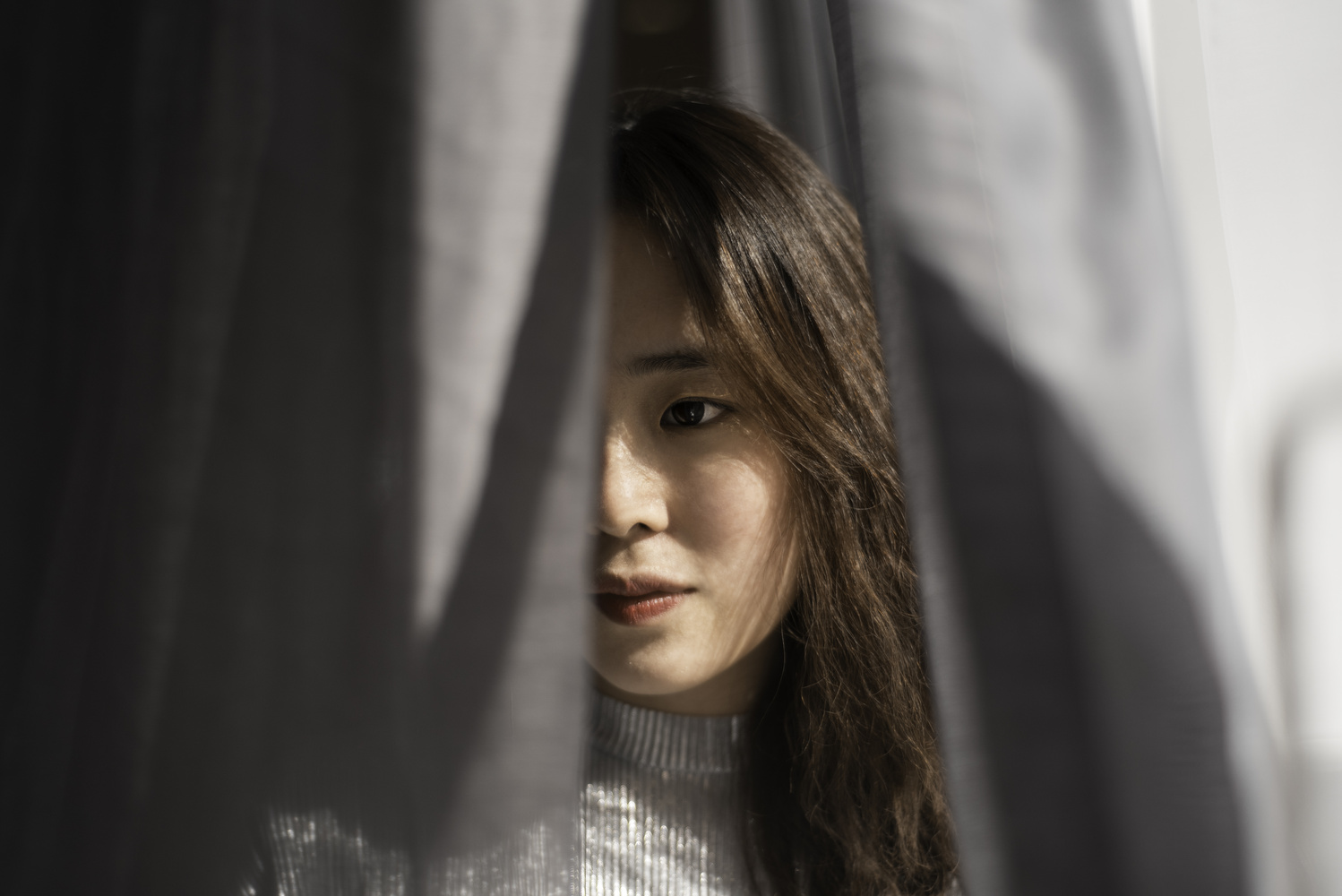 Behind the curtains by Willy Lau