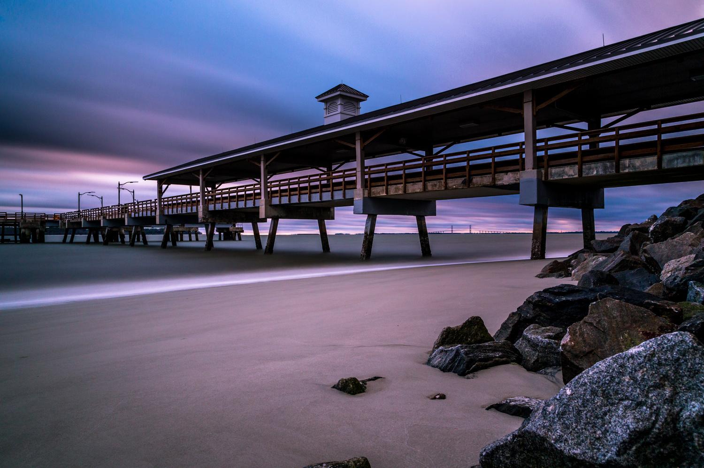 Exposed Pier by Derek Bradley