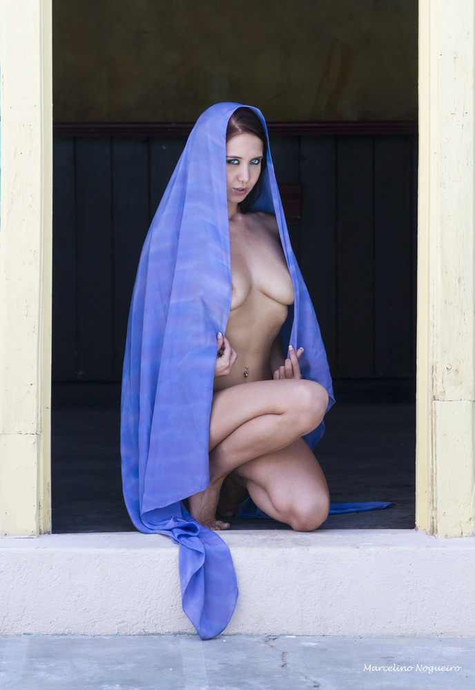 Crissy in Blue by Marcelino Nogueiro