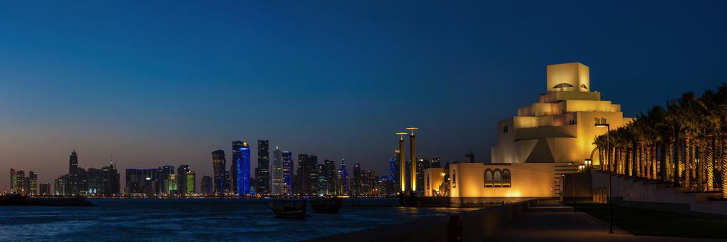 Twilight in Doha by Stefan Choquette