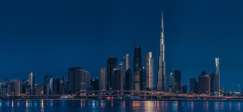 Dubai morning skyline by ray phillips