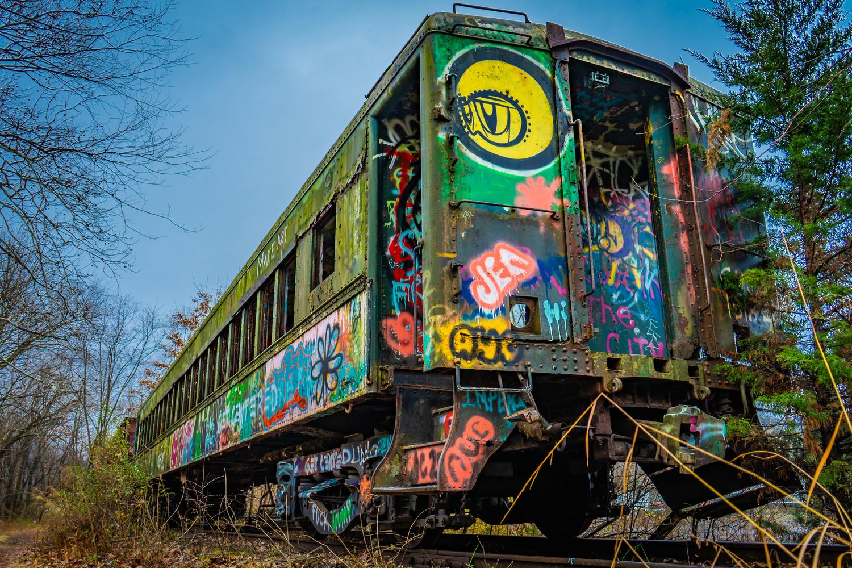 Train Car Graffiti by Alexander Lobozzo