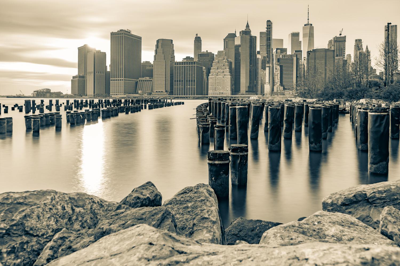 Brooklyn Pilings by Alexander Lobozzo
