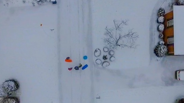 Sledding from above by Jake Hagemann