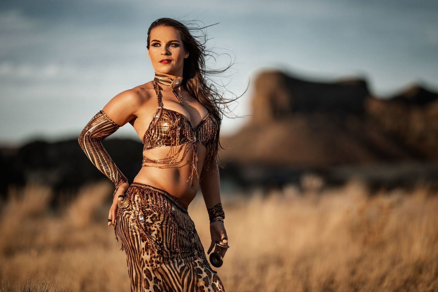 Anyelle in the desert by Jeanie Lewis