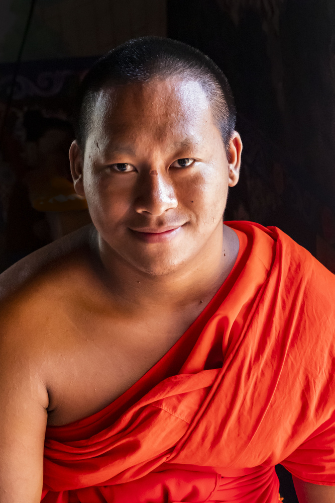 portrait of a Thai monk by Stephen Scully