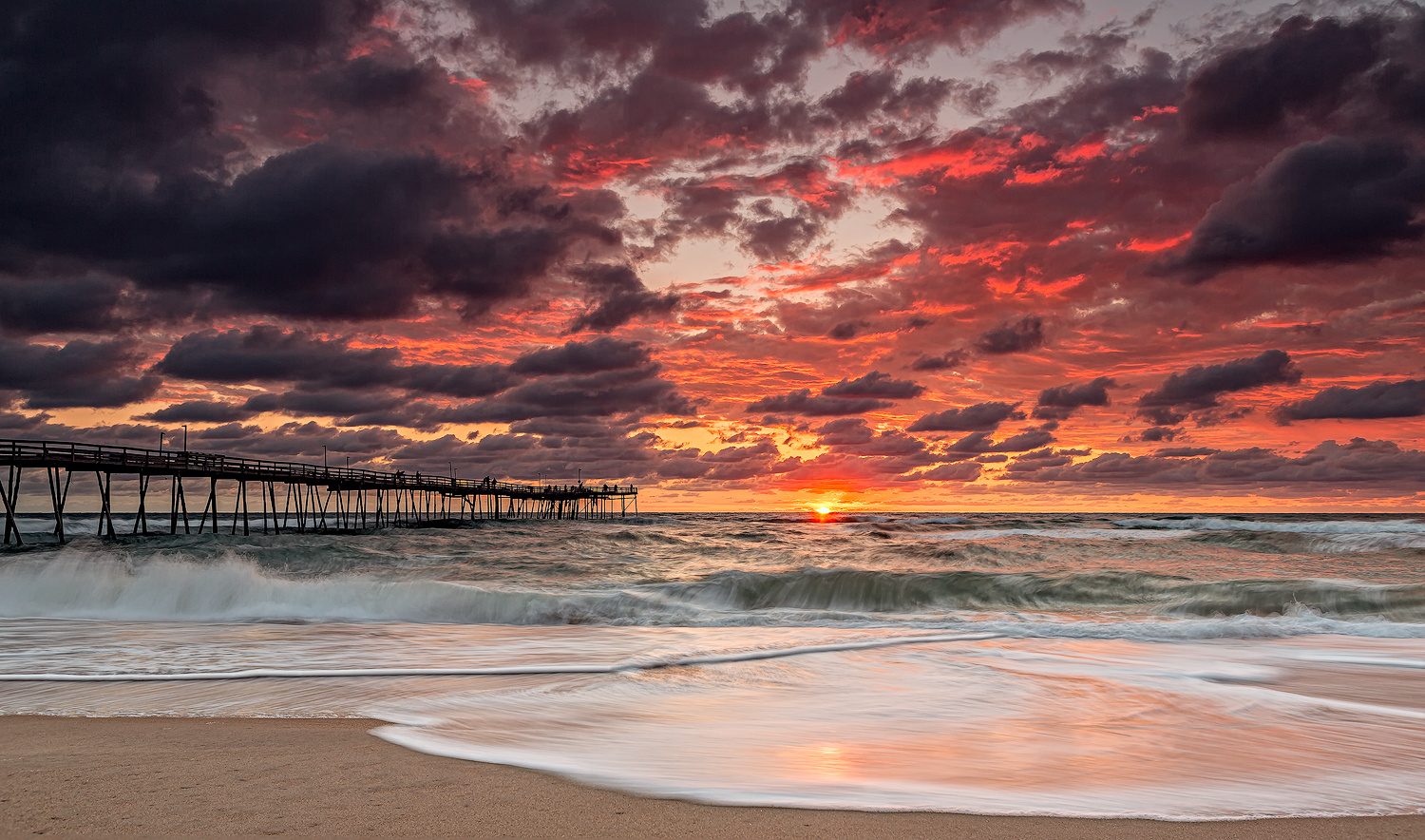 Fire in the Sky | Outer Banks, NC by Jarrod Bruner