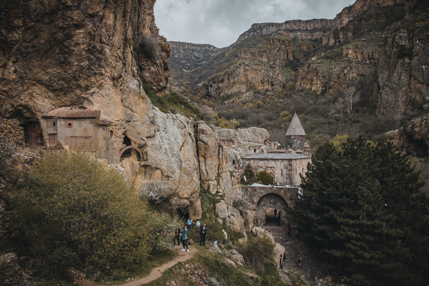 Geghard Monastery by andrew audley