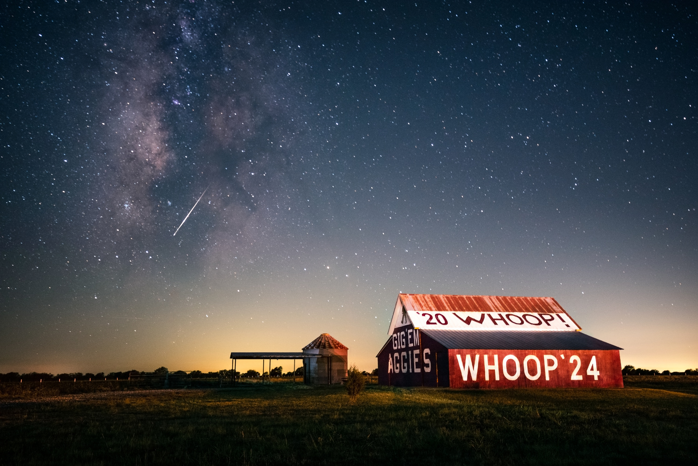 Aggie Barn by Night by Trevor Parker