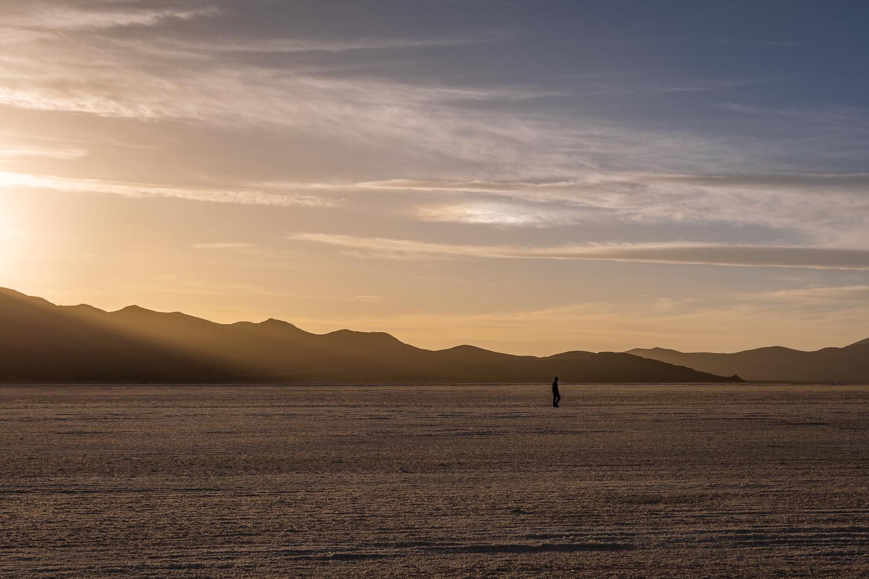 Sunset in Uyuni by Maxime Garcia