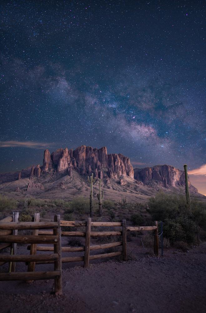 Milky Way over the Superstitions by Jeffrey Moen
