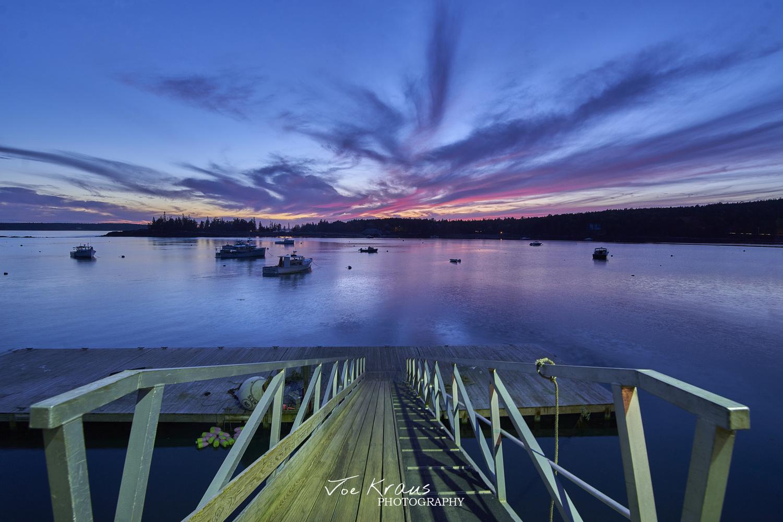 Sunset over Seal Harbor by Joe Kraus