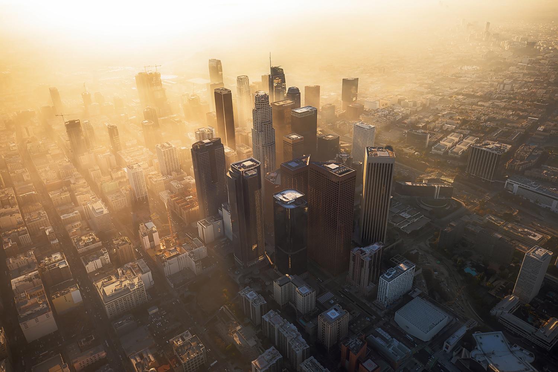 DTLA: Haze Rays by Shabdro Photo