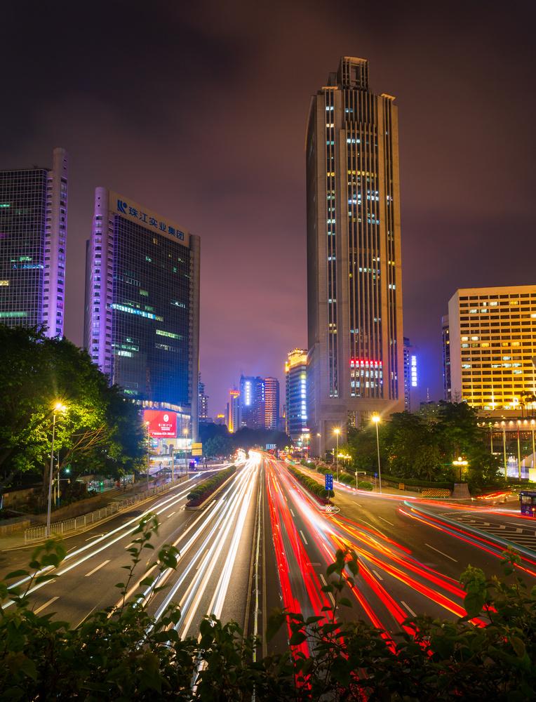 Guangzhou light trails by Mikkel Nordbæk