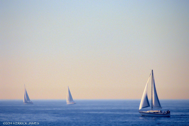 Sailing off Laguna Beach, California by Kerrick James