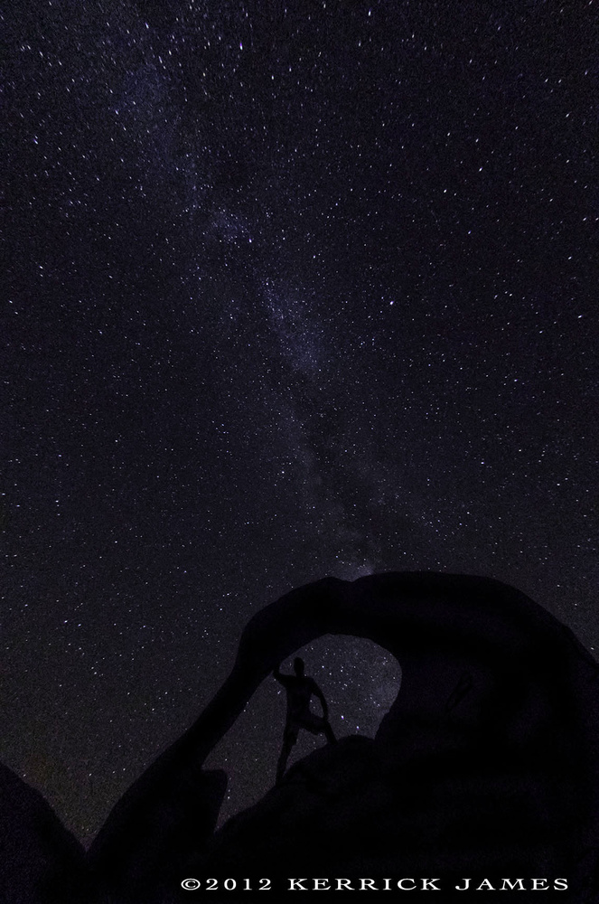 Mobius Arch, under the Milky Way, Alabama Hills, California by Kerrick James