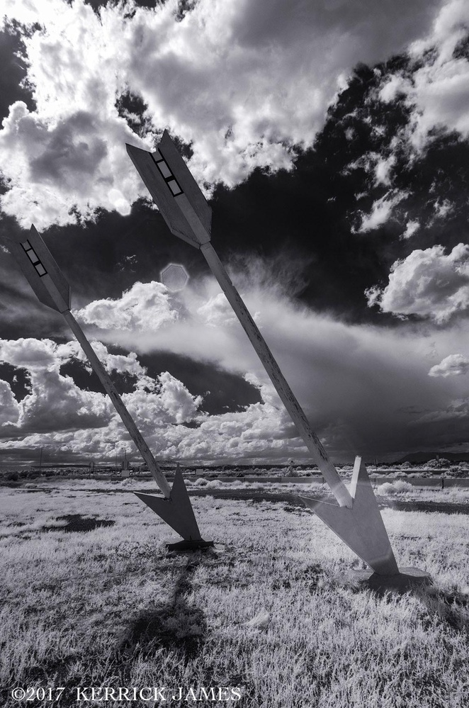 Twin Arrows on Route 66, Arizona by Kerrick James