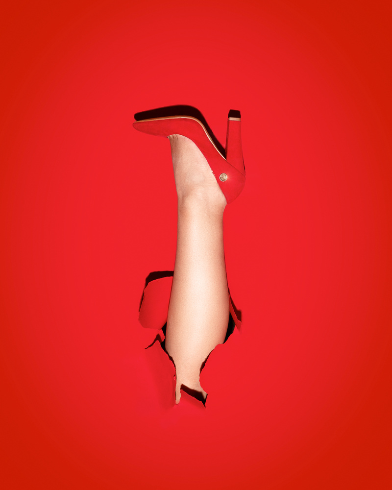 red shoe by Wadih Anton
