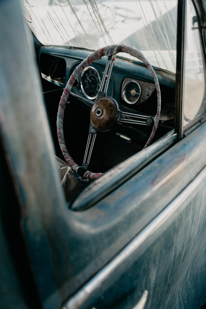 Behind the wheel by Ryan Hill