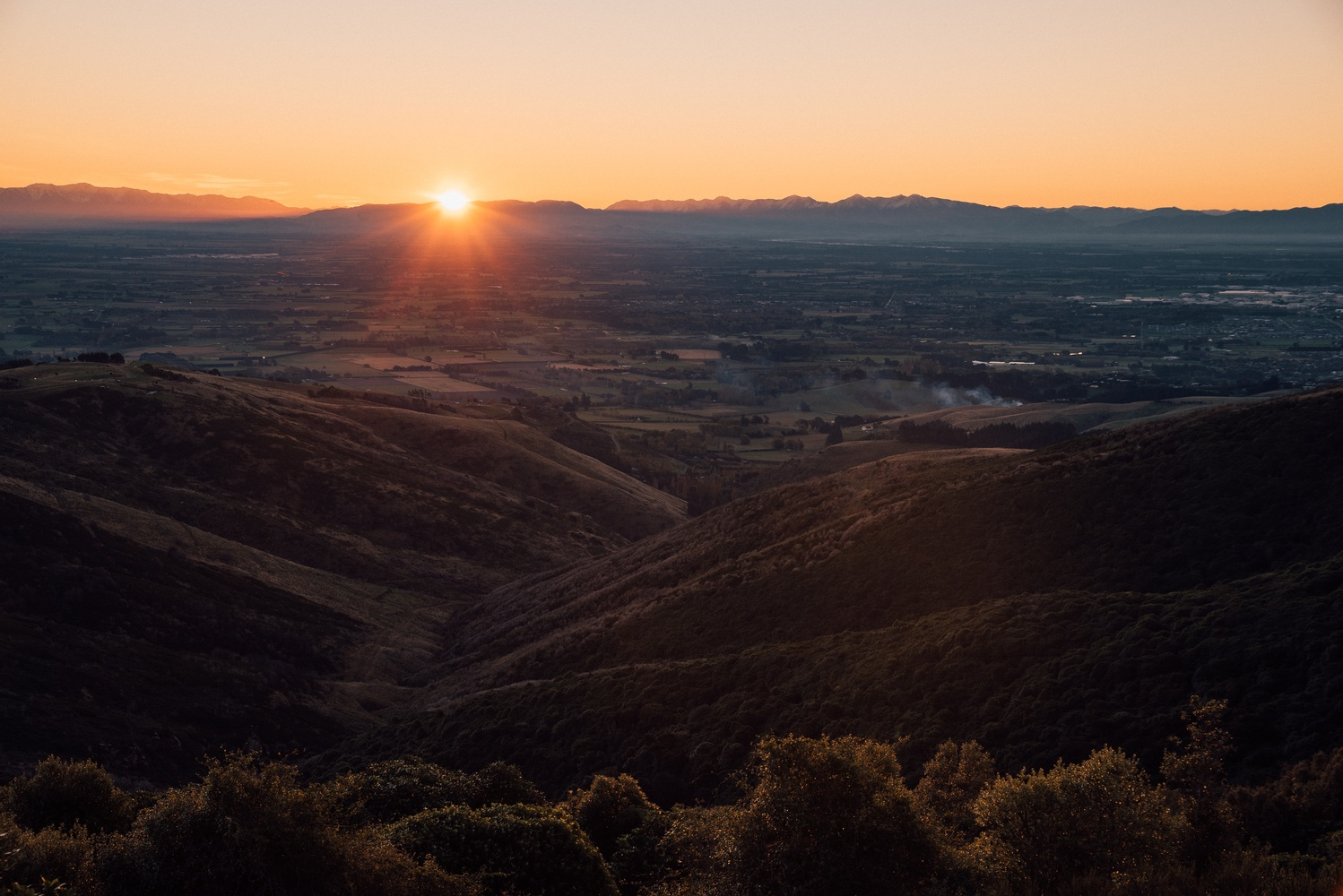 Last light over Christchurch by Ryan Hill