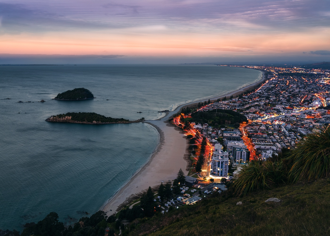 City lights of Tauranga by Ryan Hill