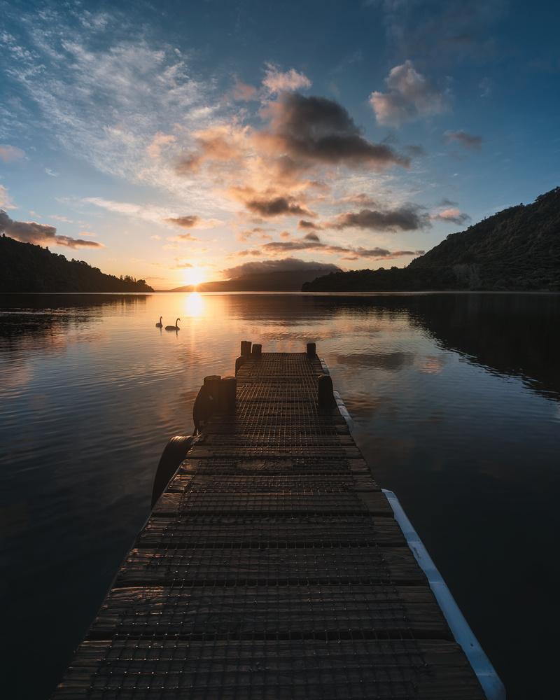 Early morning light over Lake Tarawera by Ryan Hill
