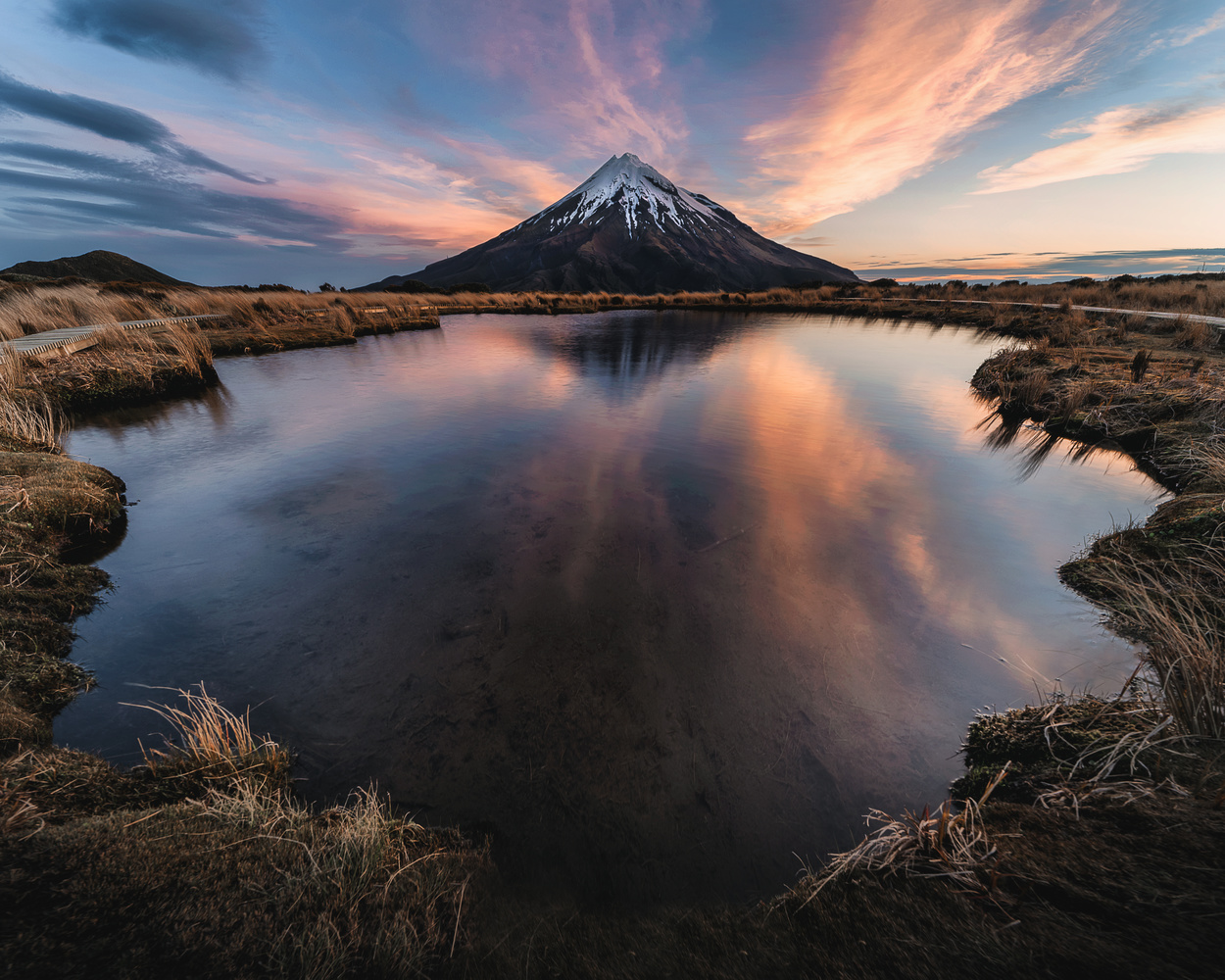 Magic behind Mount Taranaki, NZ by Ryan Hill