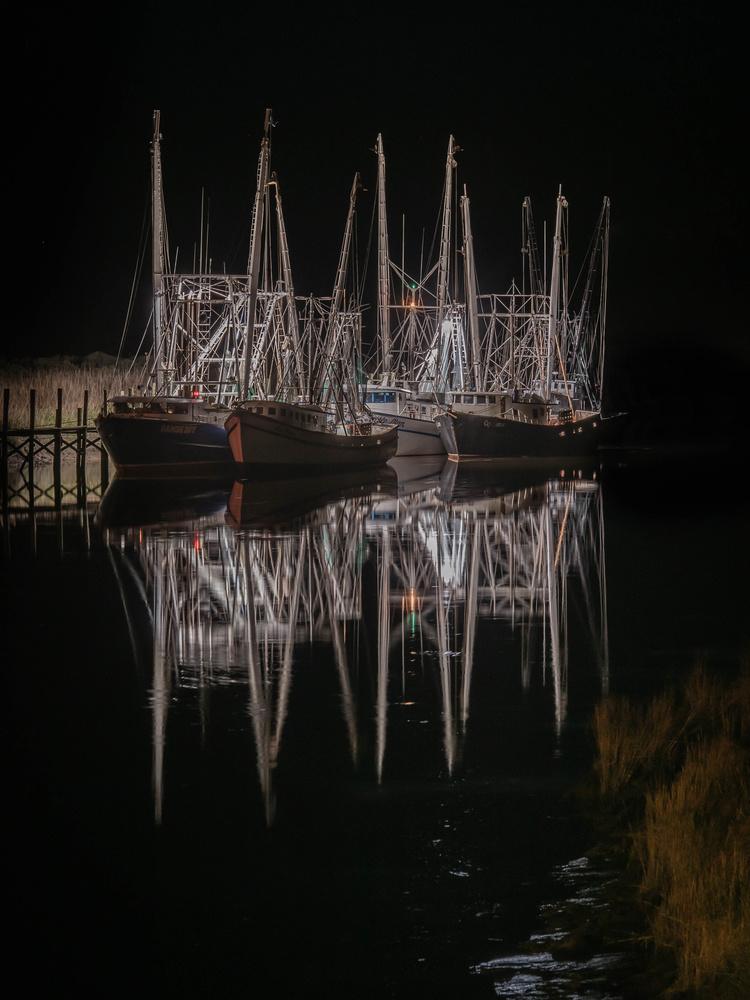 Shrimp Boats by Timo Tavio