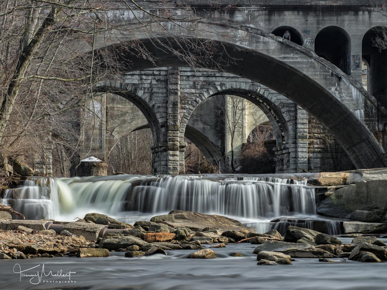 Three Bridges of Berea Falls by Tammy Mellert