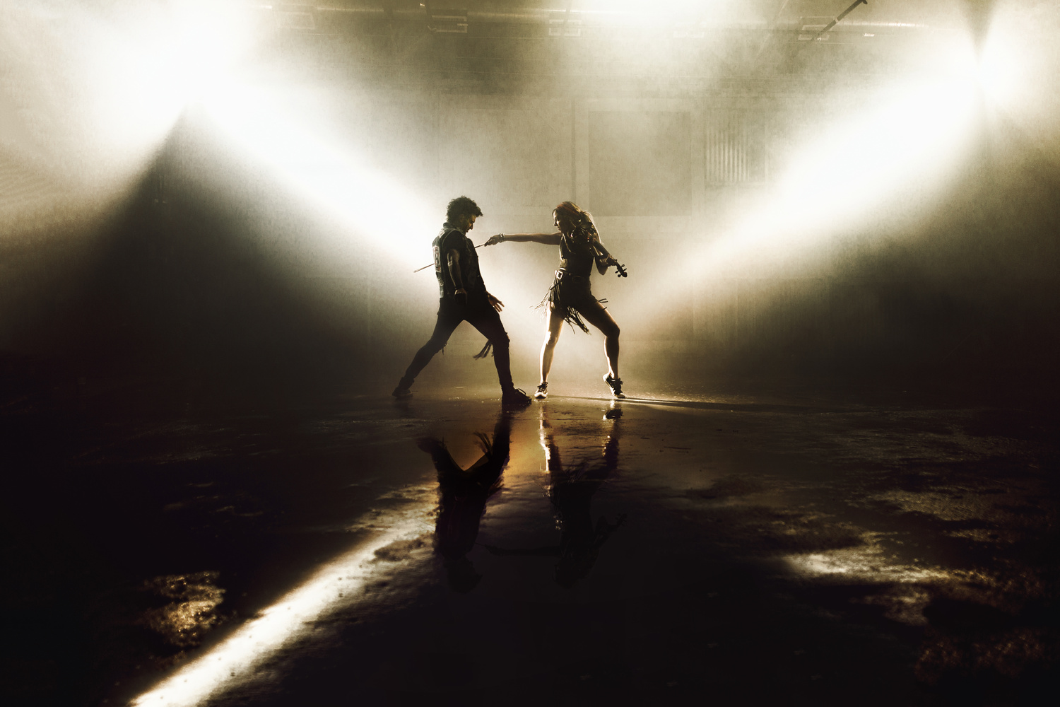 Mark Ballas and Lindsey Stirling by Syd Takeshta