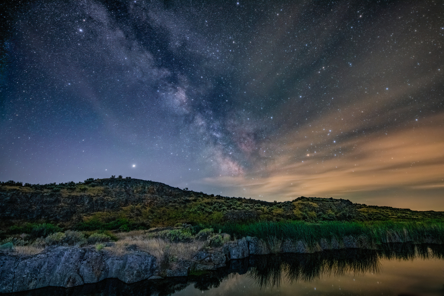 Milky Way over Columbia NWR by David Hutson
