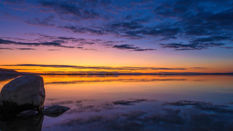 Peaceful Sunset by David Hutson