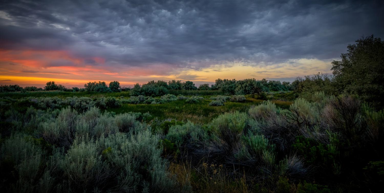 Columbia Basin Sunset by David Hutson
