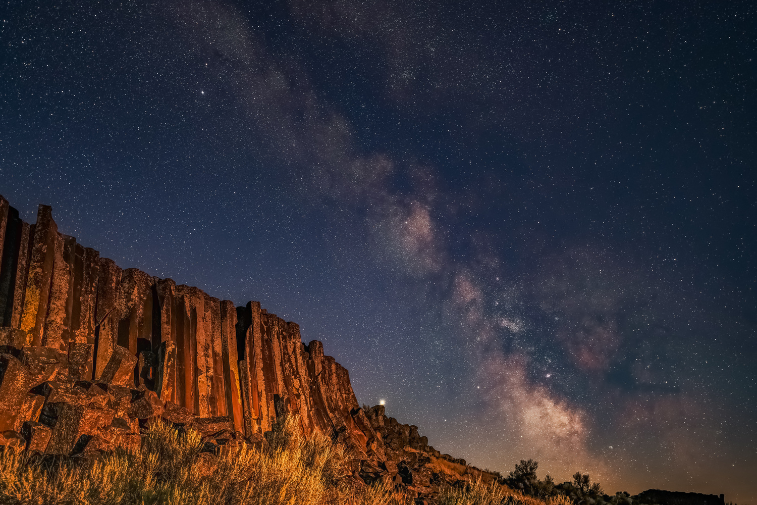 Basalt Columns at Night by David Hutson