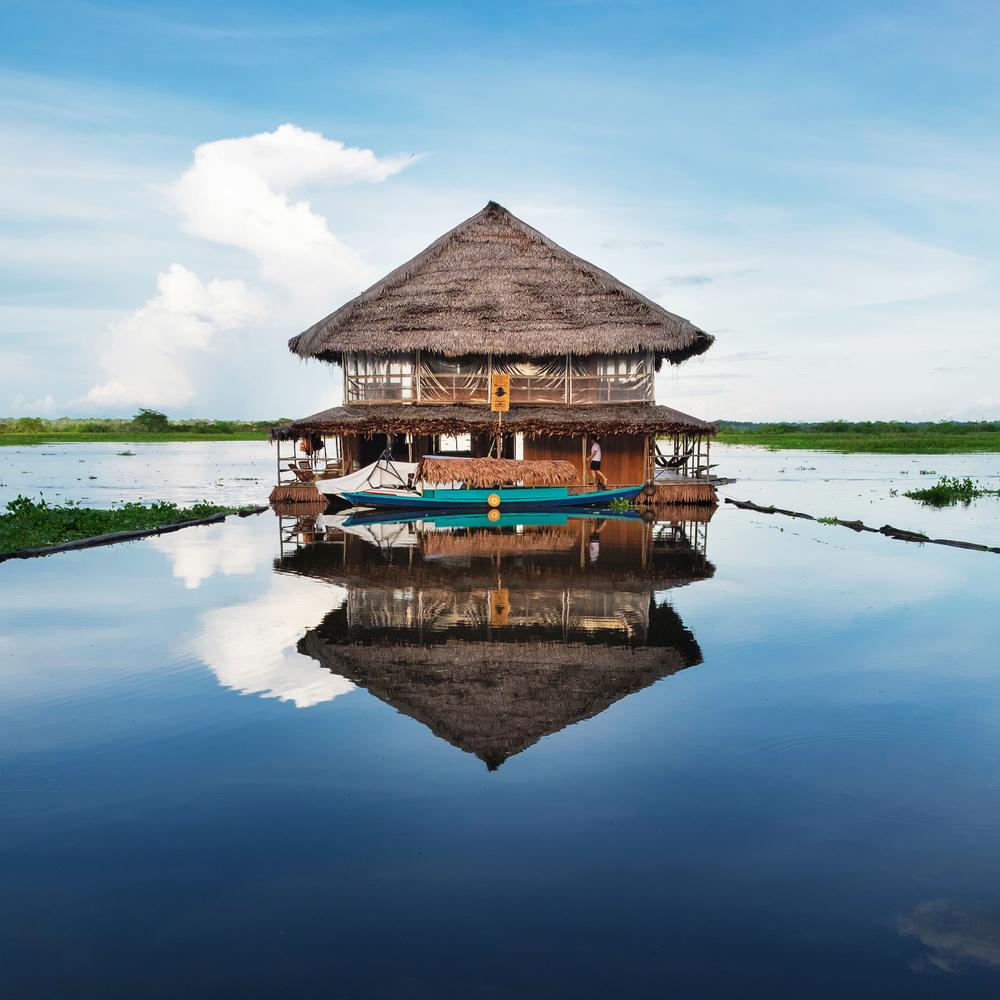 Hut in Peruvian Amazon by Jared Wade