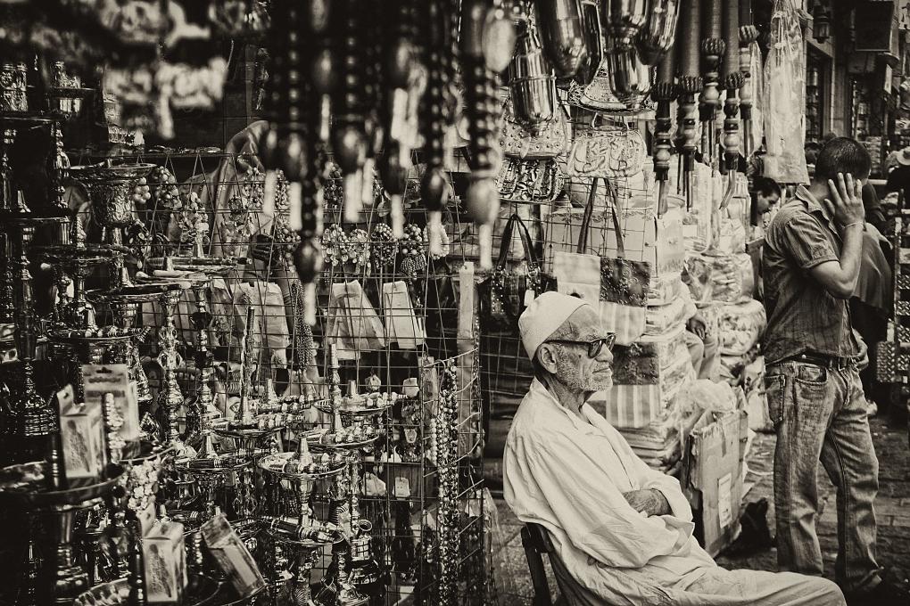 Grand Pa and smoke pipes by Shola Animashaun